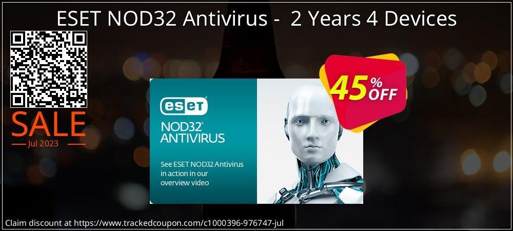 NOD32 Antivirus - Nouvelle licence 2 ans pour 4 ordinateurs coupon on Black Friday offering sales