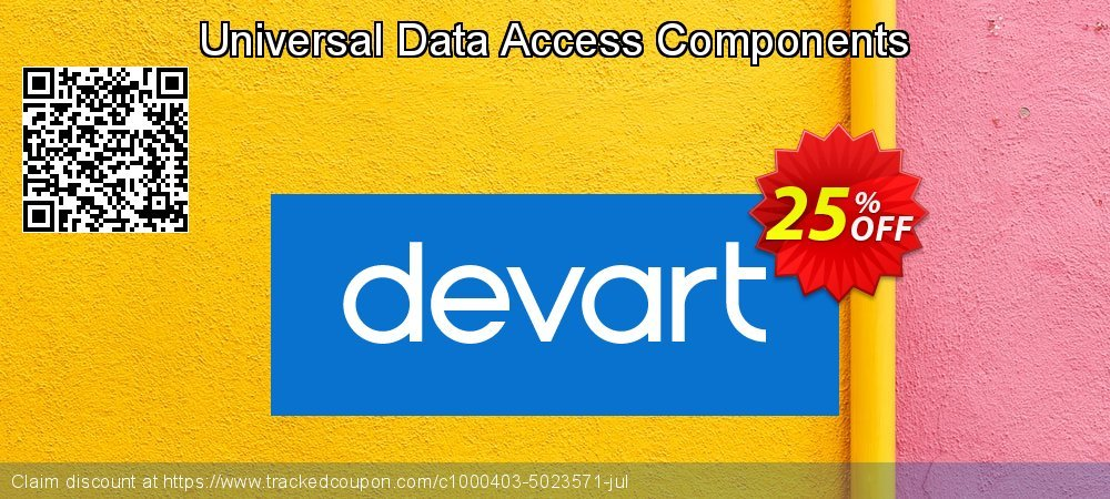 Universal Data Access Components coupon on Lazy Mom's Day offer
