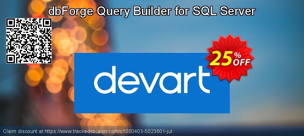 Get 10% OFF dbForge Query Builder for SQL Server offering discount