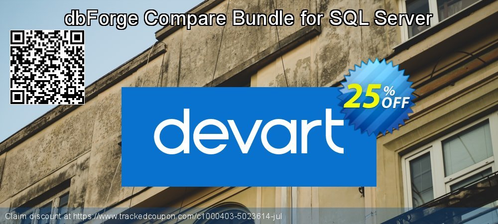 dbForge Compare Bundle for SQL Server coupon on Valentine's Day offer