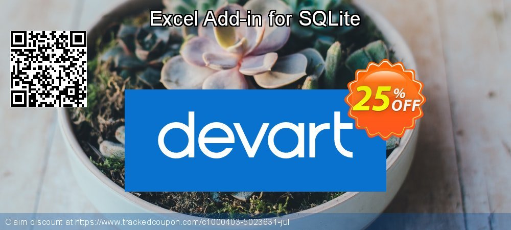 Excel Add-in for SQLite coupon on  Lover's Day deals