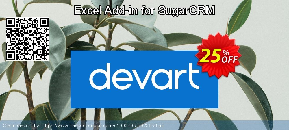 Excel Add-in for SugarCRM coupon on Int'l. Women's Day discounts