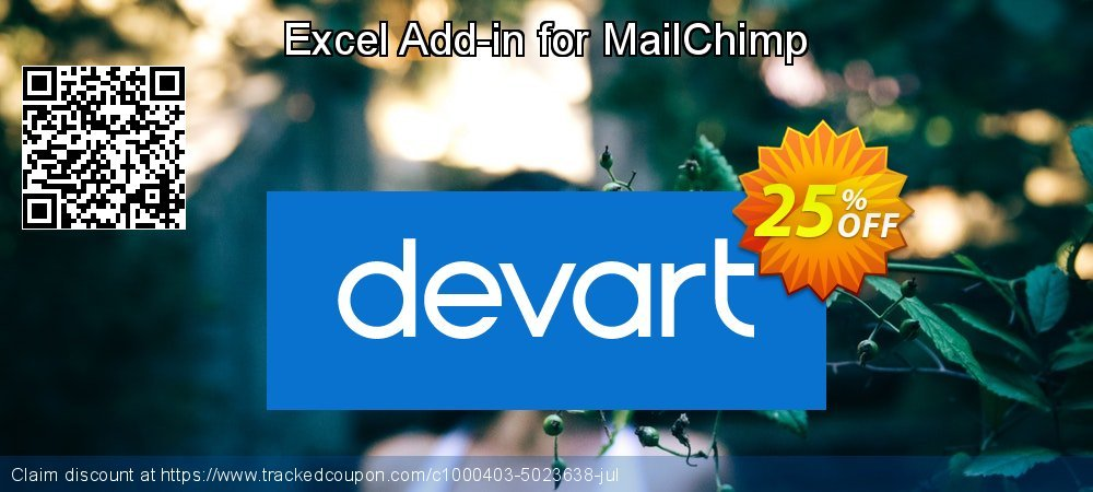 Excel Add-in for MailChimp coupon on Valentines Day promotions