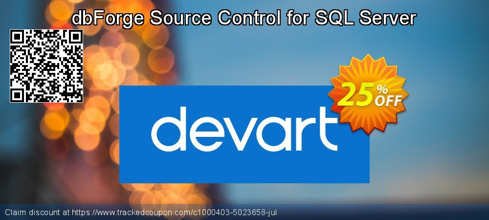 dbForge Source Control for SQL Server coupon on College Student deals discounts