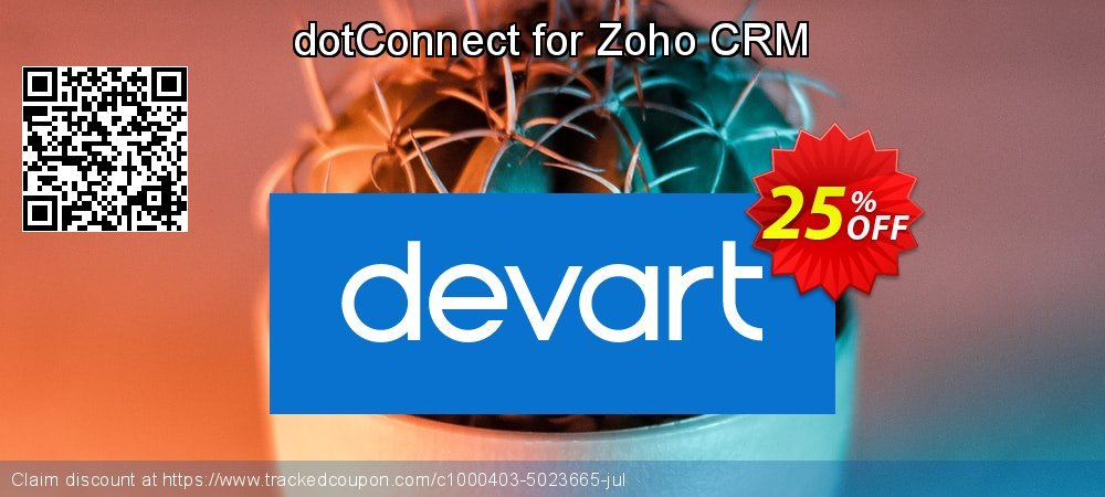 dotConnect for Zoho CRM coupon on Back to School offer offering sales