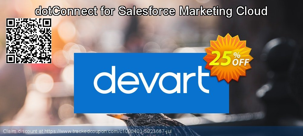 dotConnect for Salesforce Marketing Cloud coupon on National Cleanup Day promotions