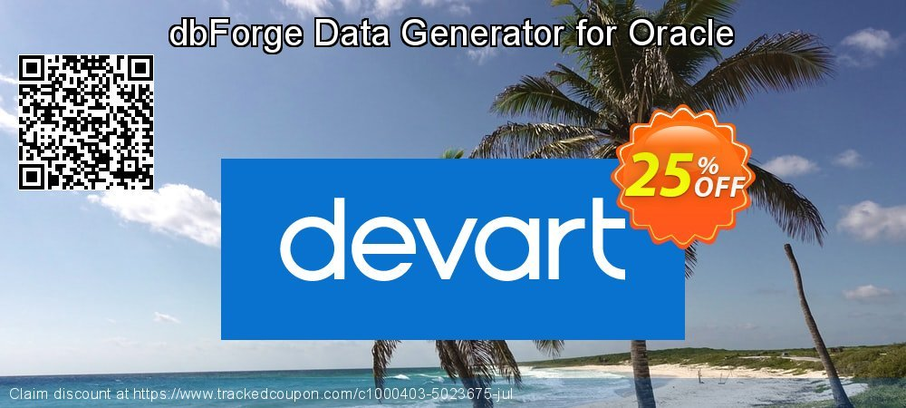 dbForge Data Generator for Oracle coupon on Int'l. Women's Day deals