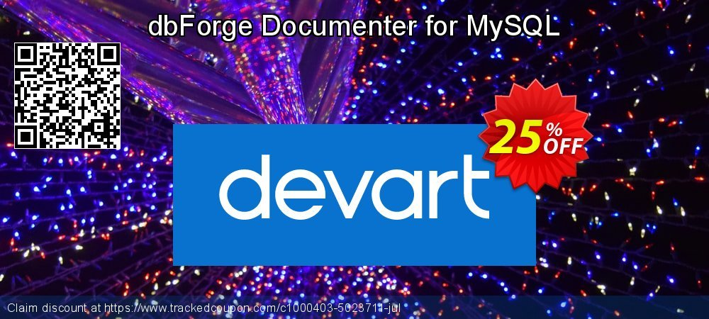 dbForge Documenter for MySQL coupon on Back to School promo super sale