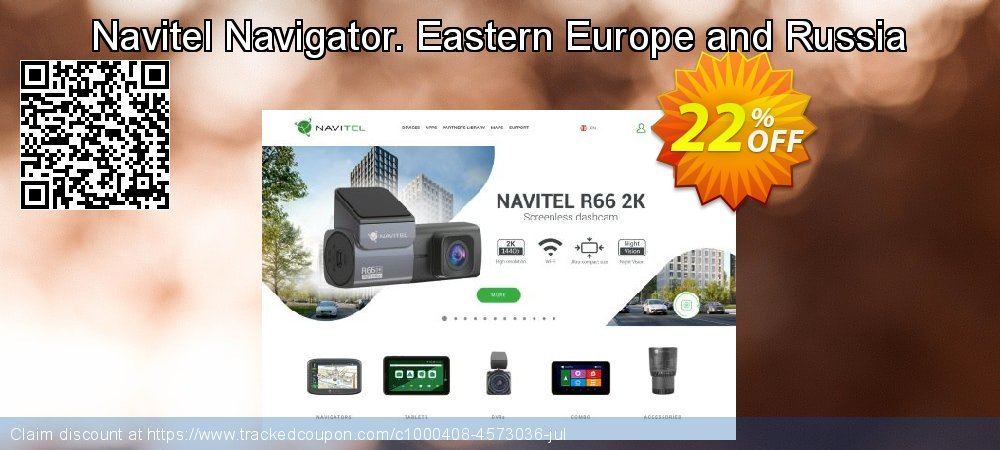 Navitel Navigator. Eastern Europe and Russia coupon on New Year offering discount