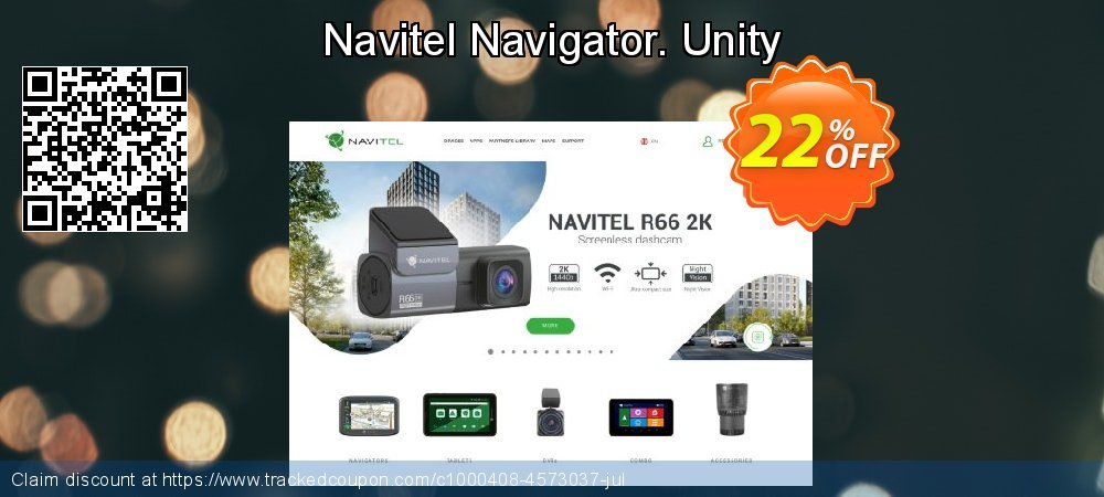 Navitel Navigator. Unity coupon on New Year's Day offering sales