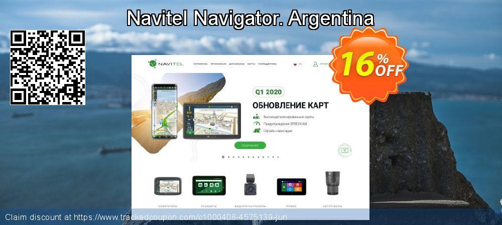 Get 10% OFF Navitel Navigator. Argentina promotions