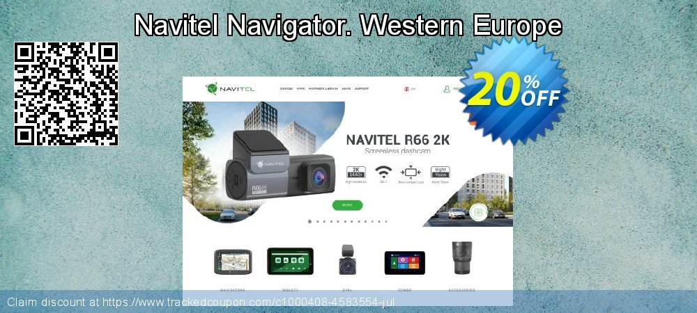 Navitel Navigator. Western Europe coupon on Happy New Year deals