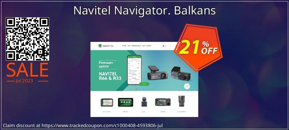 Navitel Navigator. Balkans coupon on Happy New Year offer