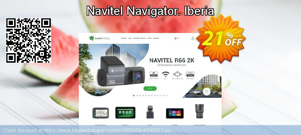 Navitel Navigator. Iberia coupon on New Year offering sales