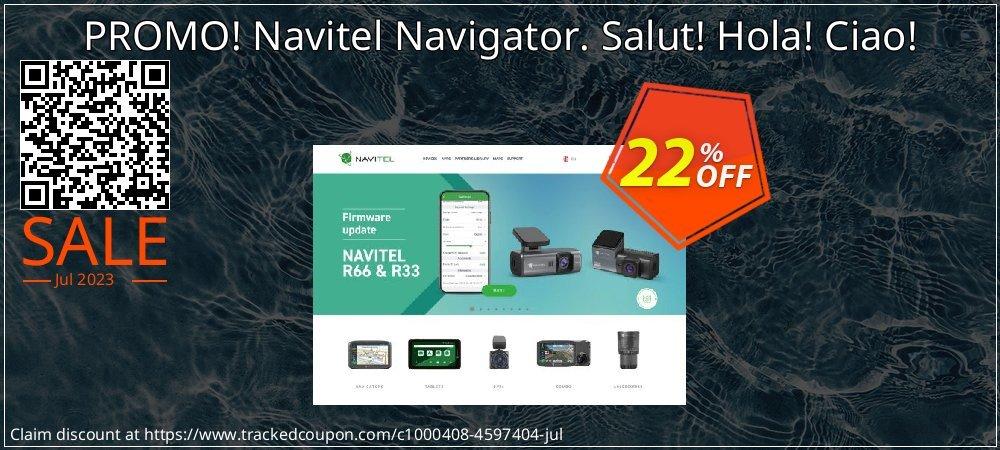 PROMO! Navitel Navigator. Salut! Hola! Ciao! coupon on New Year sales