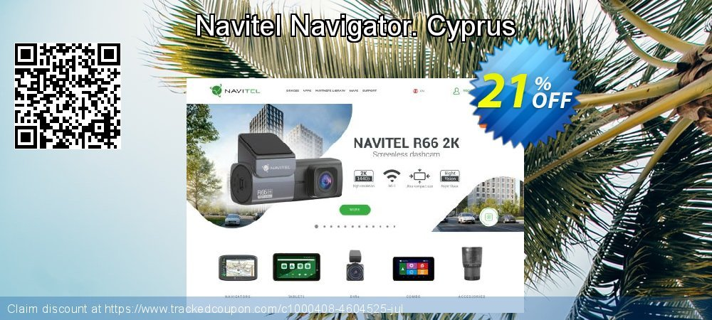 Navitel Navigator. Cyprus coupon on New Year's Day offer