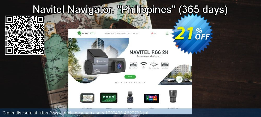 "Get 20% OFF Navitel Navigator. ""Philippines"" (365 days) offering sales"