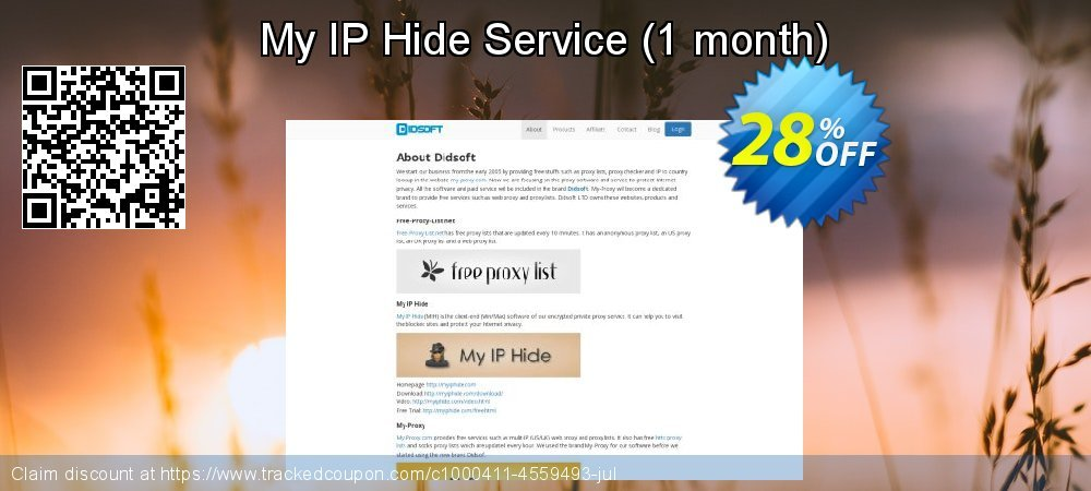 My IP Hide Service - 1 month  coupon on National Cleanup Day promotions