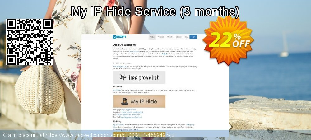 My IP Hide Service - 3 months  coupon on National Family Day discount