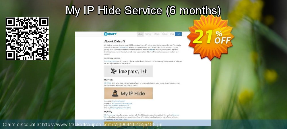 My IP Hide Service - 6 months  coupon on National Coffee Day offering discount