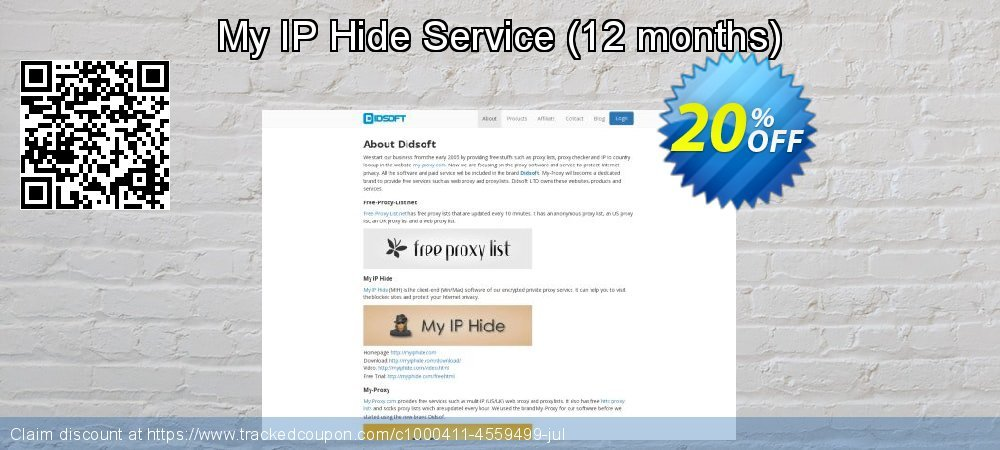 My IP Hide Service - 12 months  coupon on Lazy Mom's Day offering sales