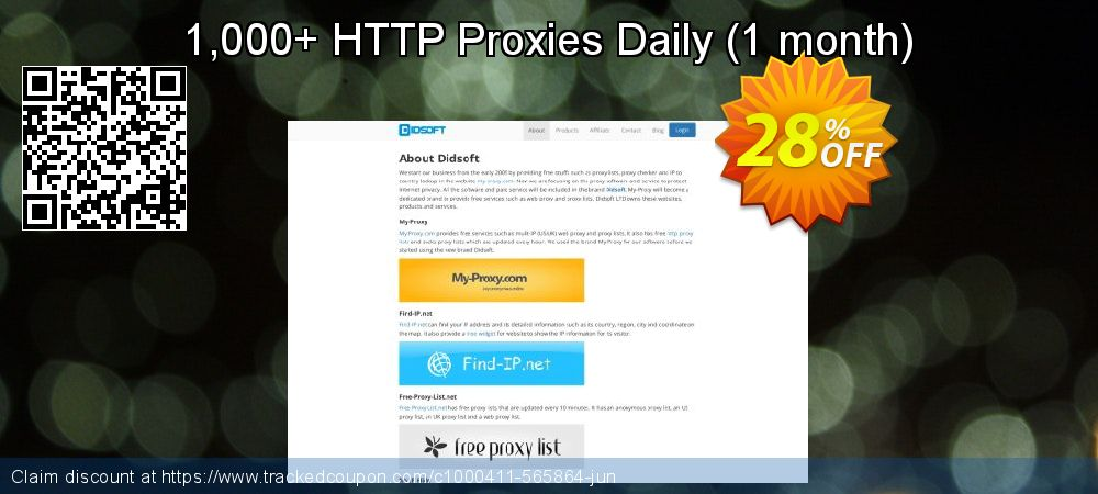 1,000+ HTTP Proxies Daily - 1 month  coupon on April Fool's Day sales
