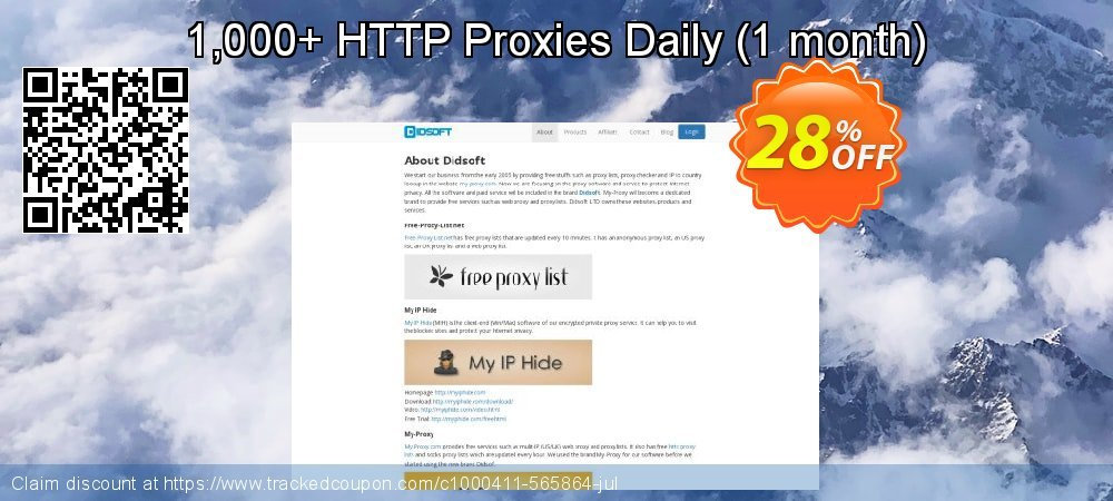 1,000+ HTTP Proxies Daily - 1 month  coupon on Native American Day discount