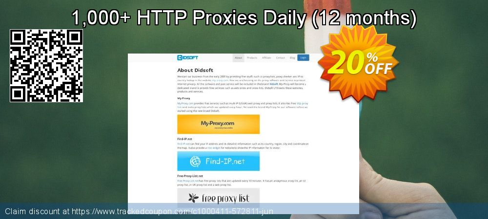 1,000+ HTTP Proxies Daily - 12 months  coupon on Valentines Day super sale