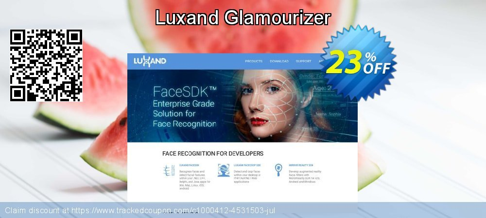 Luxand Glamourizer coupon on Cheese Pizza Day sales