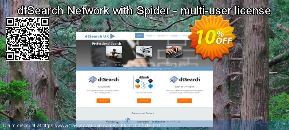 dtSearch Network with Spider - multi-user license coupon on 4th of July discounts