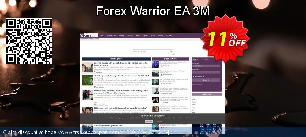 Get 10% OFF Forex Warrior EA 3M promo
