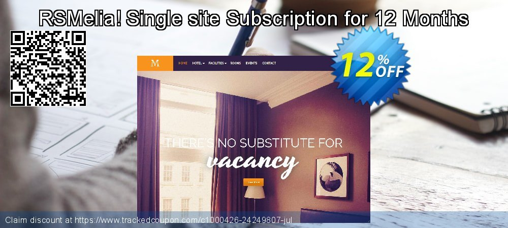Get 10% OFF RSMelia! Single site Subscription for 12 Months offer