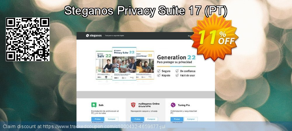 Steganos Privacy Suite 17 - PT  coupon on Lazy Mom's Day discounts