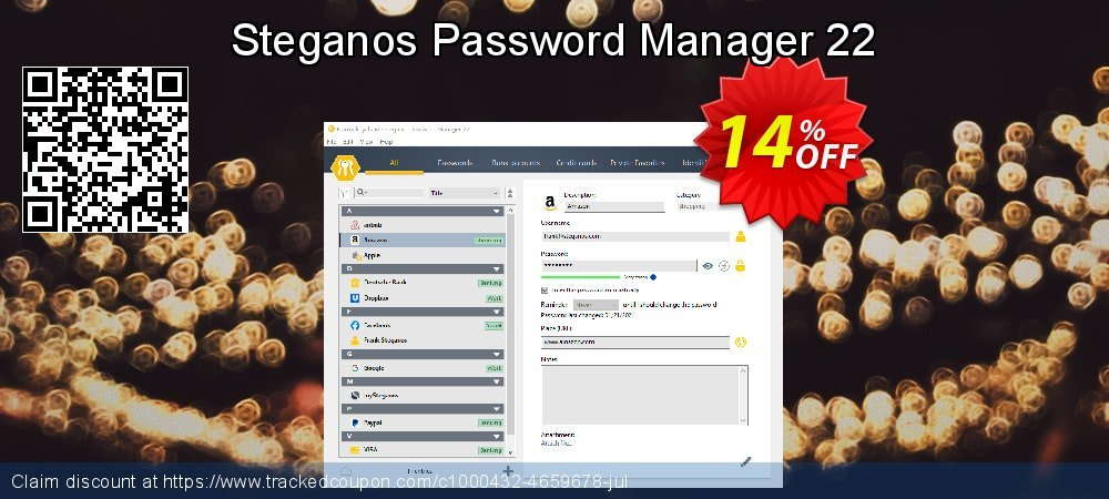 Steganos Password Manager 22 coupon on Autumn promotions