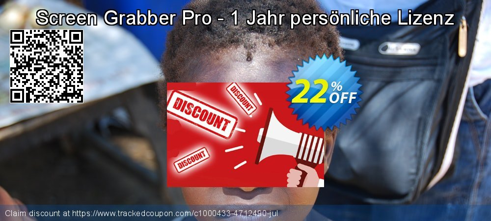 Screen Grabber Pro - 1 Jahr persönliche Lizenz coupon on July 4th discounts
