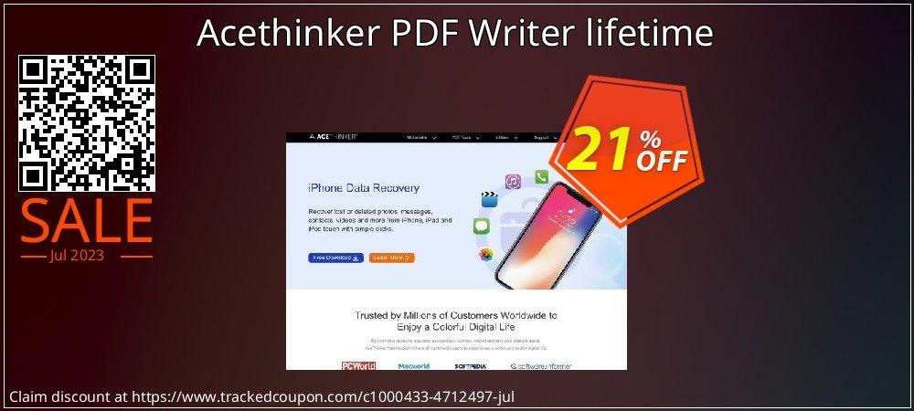 Get 20% OFF Acethinker PDF Writer lifetime offer