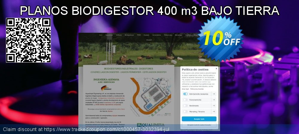 PLANOS BIODIGESTOR 400 m3 BAJO TIERRA coupon on Happy New Year offering discount