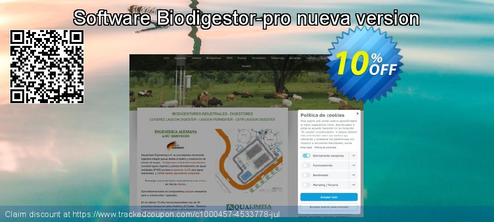 Software Biodigestor-pro nueva version coupon on Happy New Year promotions