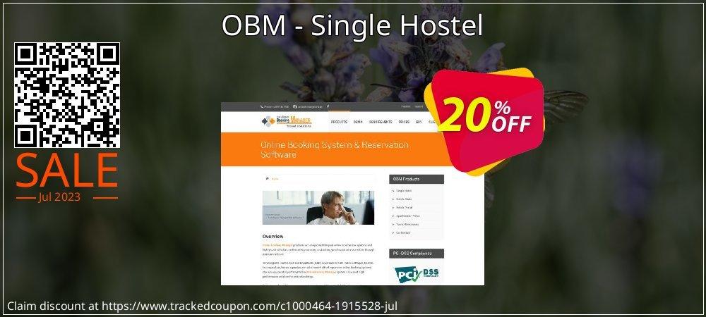 Get 20% OFF OBM - Single Hostel offering sales
