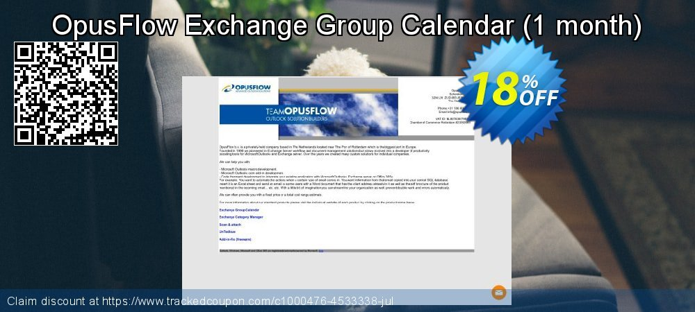 OpusFlow Exchange Group Calendar - 1 month  coupon on Happy New Year deals