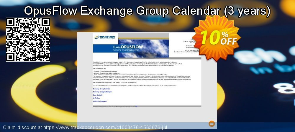 OpusFlow Exchange Group Calendar - 3 years  coupon on New Year super sale