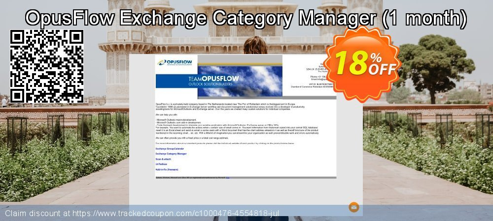 OpusFlow Exchange Category Manager - 1 month  coupon on Student deals offering sales