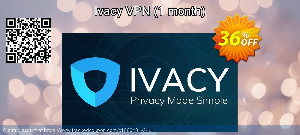 Ivacy VPN - 1 month  coupon on World Smile Day super sale