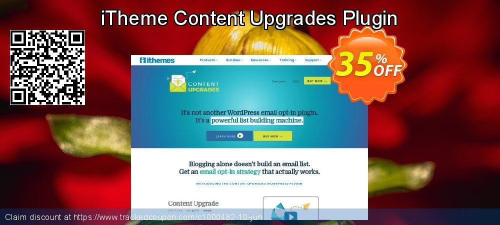 iTheme Content Upgrades Plugin coupon on Social Media Day offer