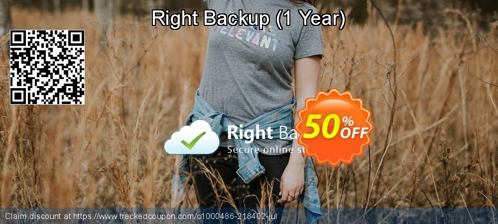 Right Backup - 1 Year  coupon on Happy New Year promotions
