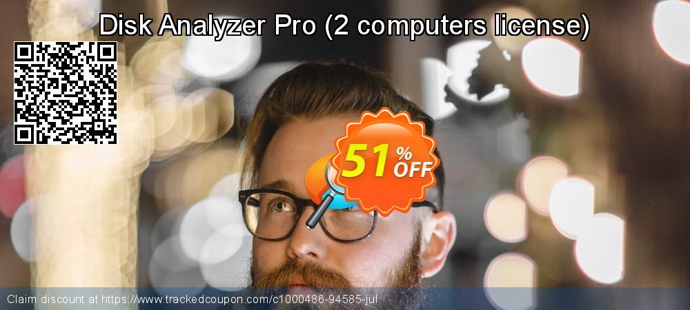 Disk Analyzer Pro - 2 computers license  coupon on New Year's Day offering discount