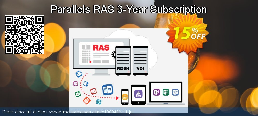 Parallels RAS 3-Year Subscription coupon on Navy Day sales