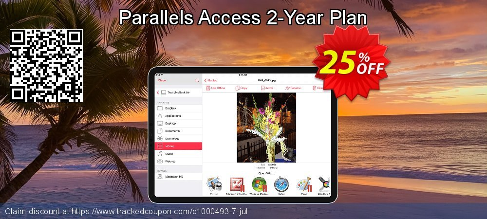 Parallels Access 2-Year Plan coupon on National Savings Day offering sales