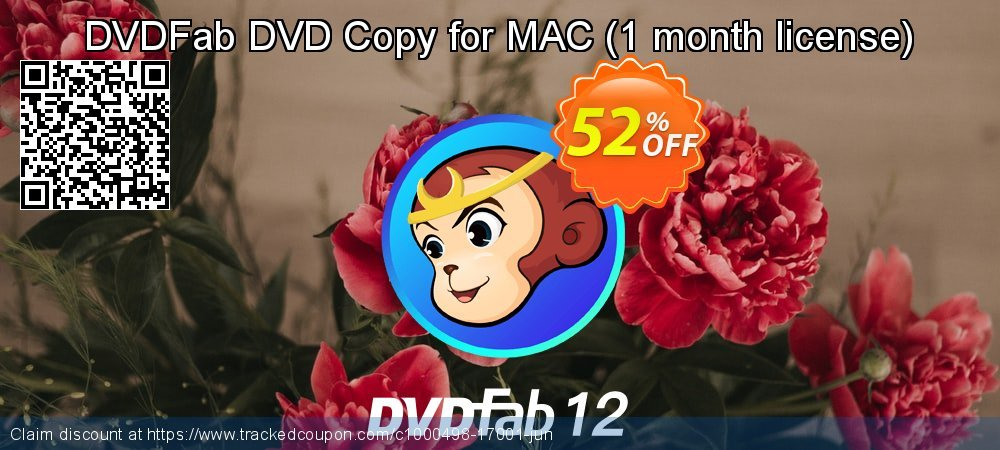 DVDFab DVD Copy for MAC - 1 month license  coupon on Tattoo Day sales