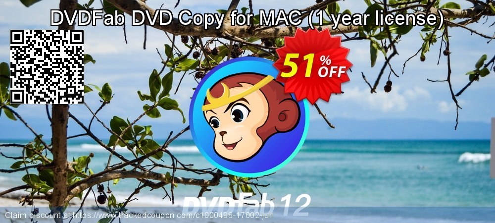 DVDFab DVD Copy for MAC - 1 year license  coupon on Emoji Day deals